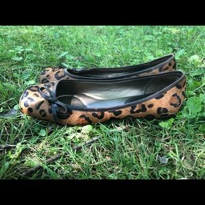 Linea Paolo Leopard print Calf hair/leather flats